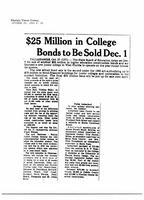 $25 Million in College Bonds to Be Sold Dec. 1