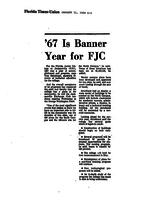 '67 Is Banner Year for FJC