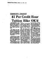 $1 Per Credit Hour Tuition Hike Ok'd: Community Colleges